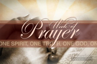 Week Of Prayer Video Loop
