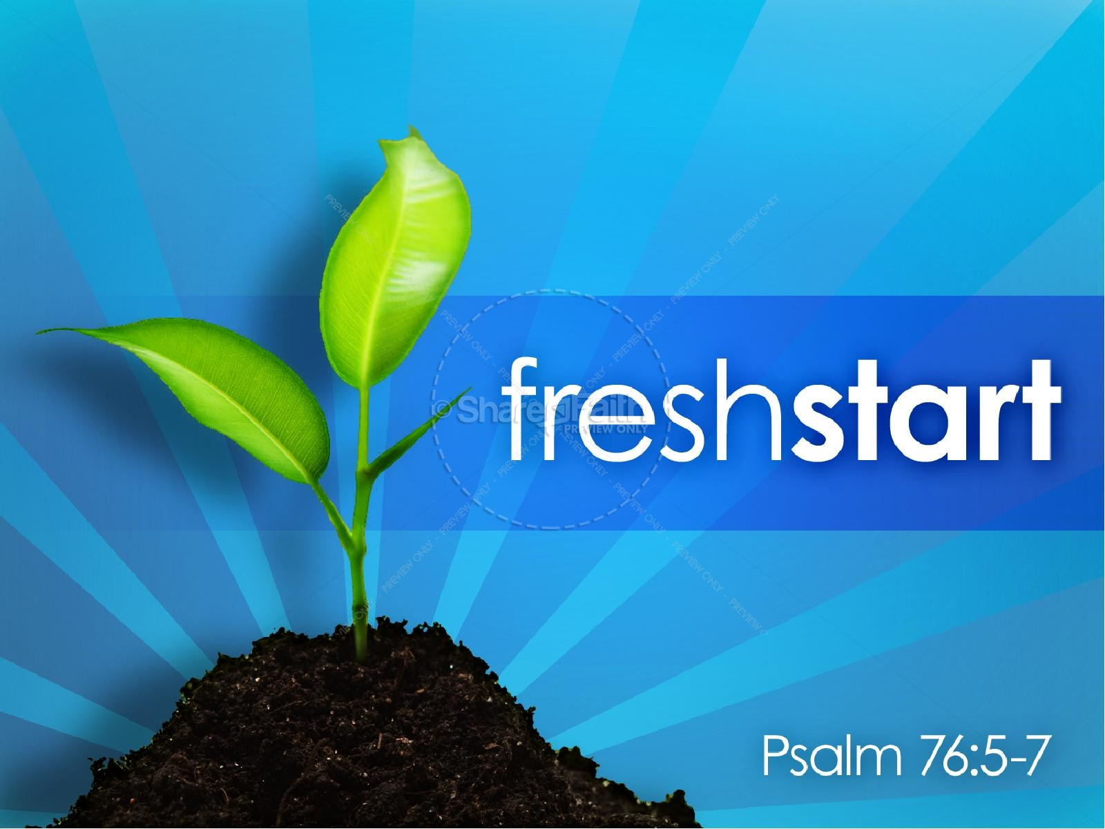 Fresh Start PowerPoint Sermon | slide 1