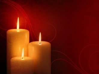 Christmas Candles Background Slide