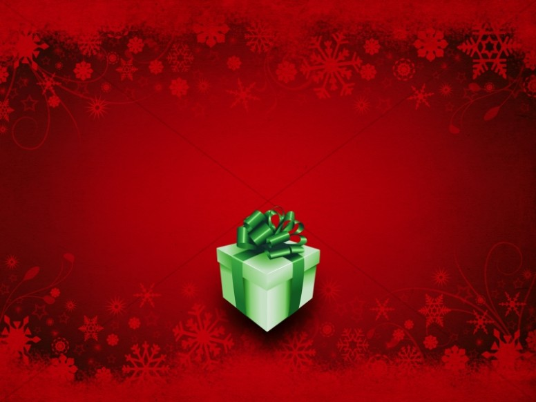 Gift of Christmas Background Slide