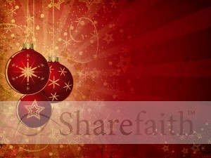 Christmas Ornament Background Slide