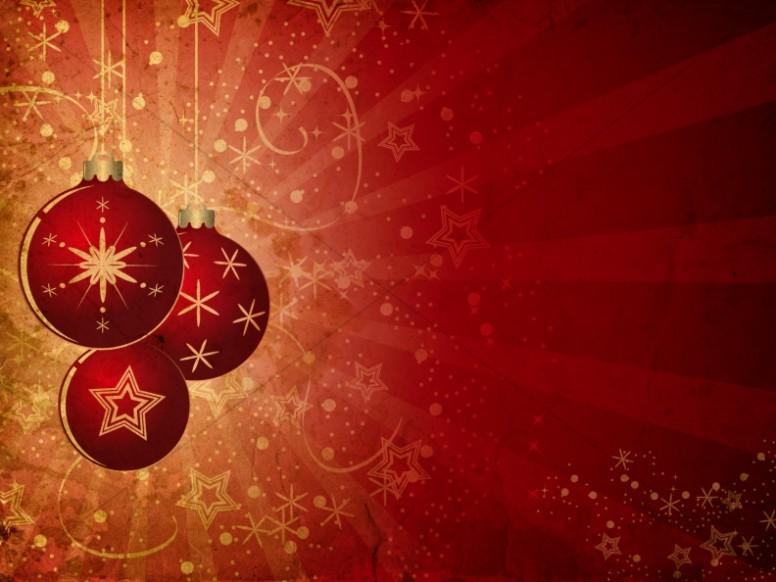 Christmas Ornament Background Slide Worship Backgrounds