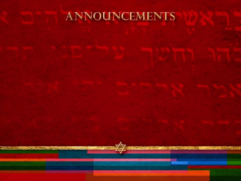 Messianic Announcement Background