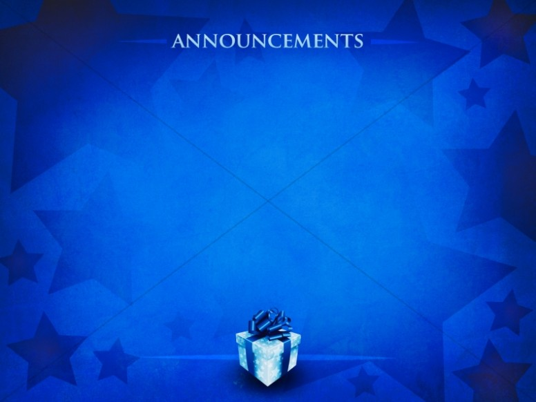 Gift of Christmas Announcement Background