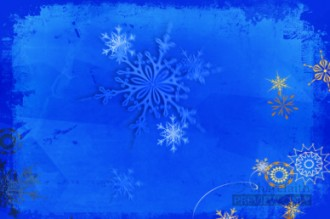 Snowflakes on Blue Worship Video Background Loop