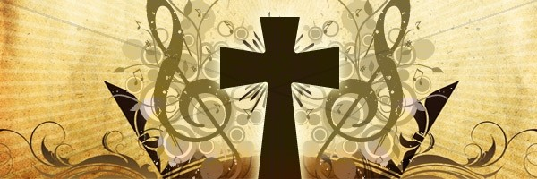 Cross and Music Email Banner