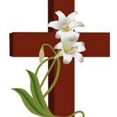 Easter Lilly Cross Email Image