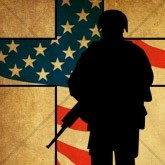 Solitary Soldier Silhouette Email Image