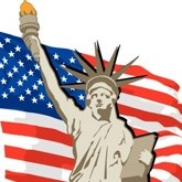 Statue of Liberty and Flag Email Image