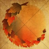 Cascading Circle of Leaves Email Image