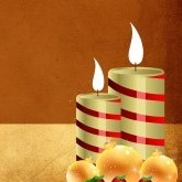 Candy Cane Colored Christmas Candles Email Image