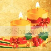 Christmas Candles with Holly Email Image