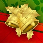 Golden Christmas Bells Email Image