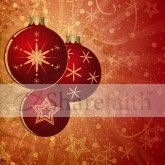 Red Christmas Ornaments Email Image