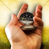 Finding Direction Compass Email Image