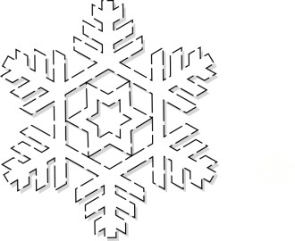Winter Snowflake Art