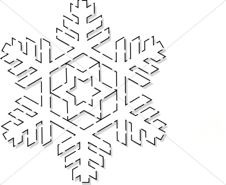 Winter Snowflake Art