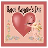 Cupid and Heart Valentines Email Salutation