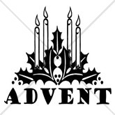Christmas Advent Candles Email Salutation