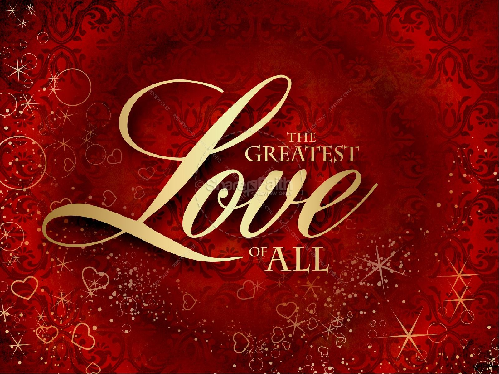 Greatest Love Valentines Day PowerPoint Template