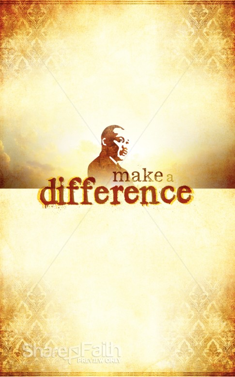 Martin Luther King Make a Difference Bulletin Cover