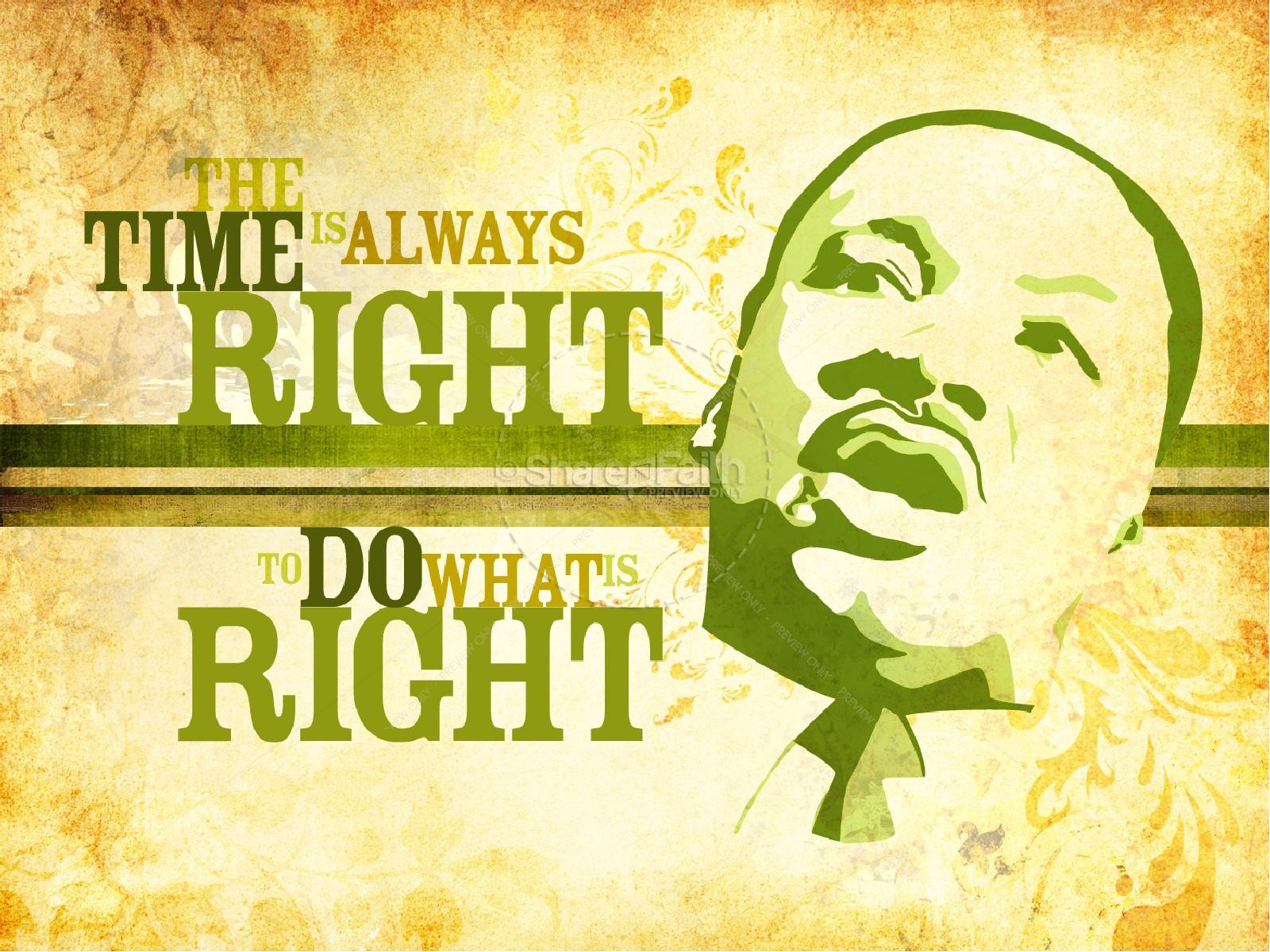 Martin Luther King Do Right PowerPoint Template | PowerPoint Sermons