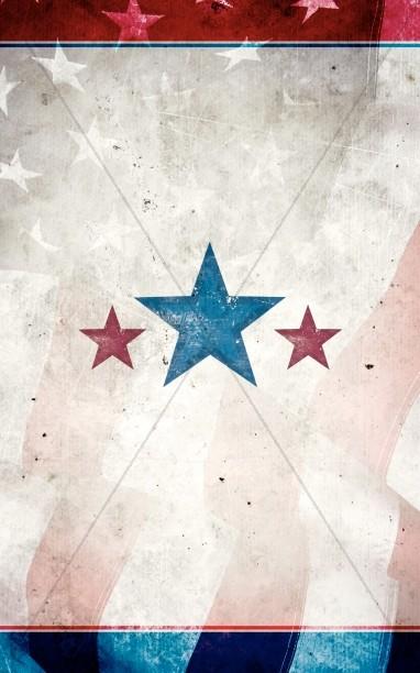 Memorial Day Stars Bulletin Cover
