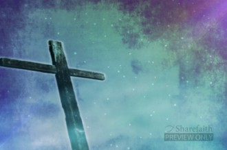 Winter Cross Worship Video Background