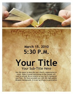 Bible Study Flyer