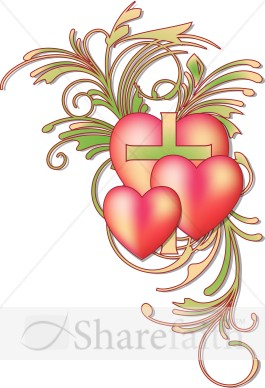 Valentines Day Heart Flourish