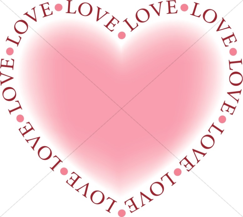 Valentine's Day Pink Love Heart