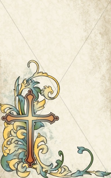 Gold Cross Program Cover