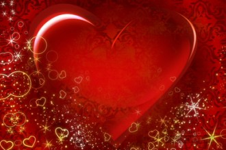 Swirling Hearts Valentines Worship Video Background