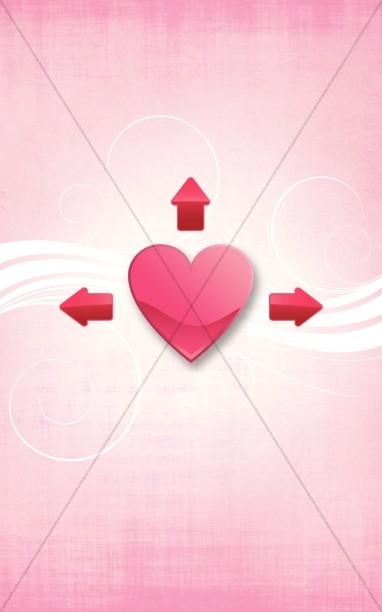 Love Valentines Church Bulletin Cover