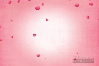 Valentines Day Floating Hearts Worship Background Video