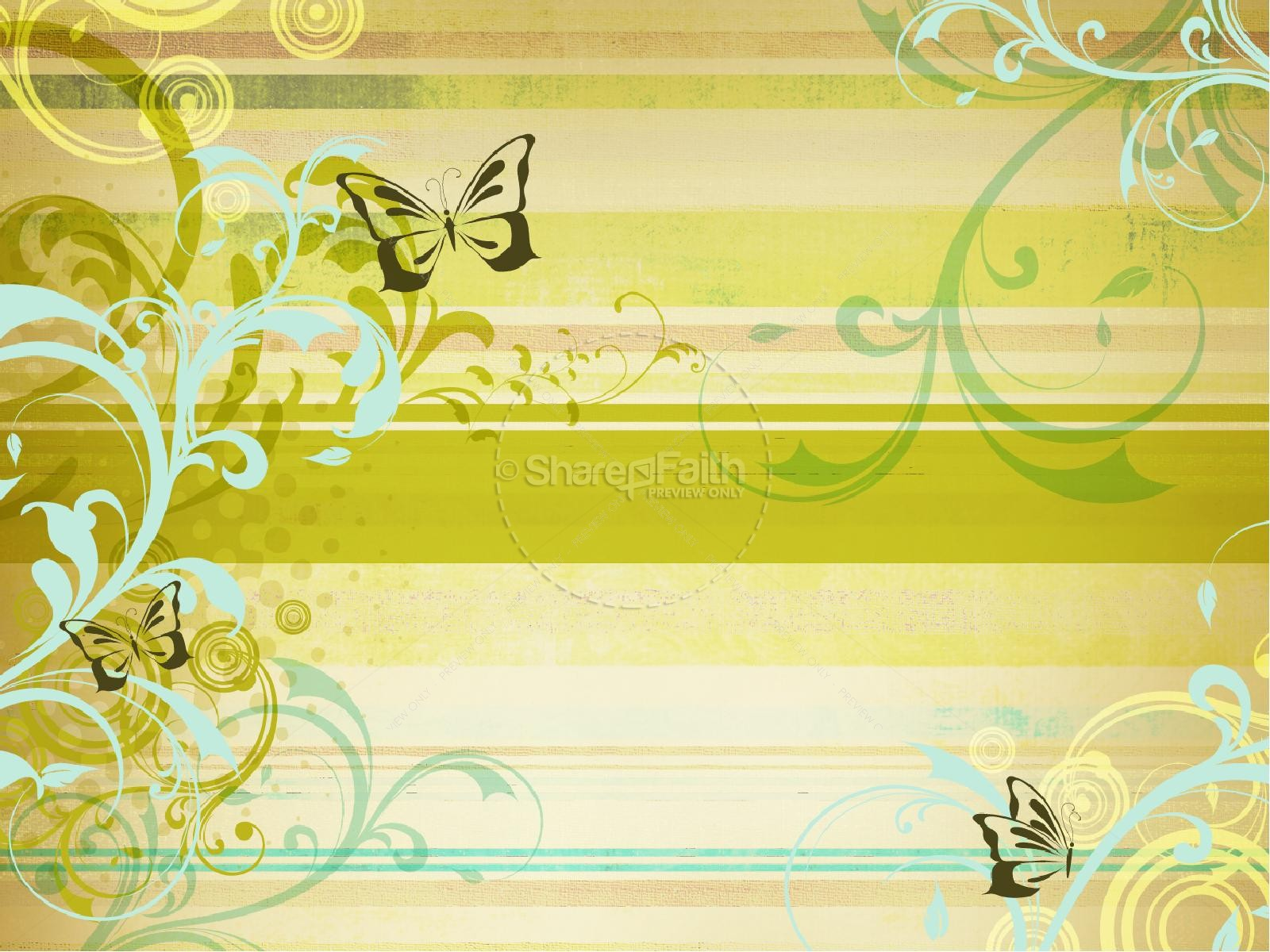 Spring Time Butterflies Church PowerPoint