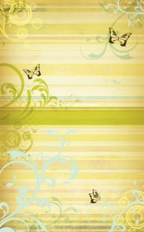 Spring Butterfly Art Christian Bulletin Cover