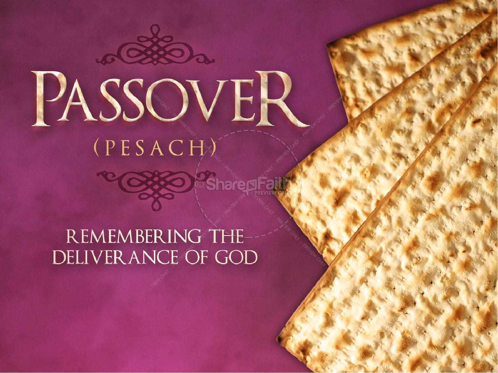 Passover Unleavened Bread Powerpoint Easter Sunday