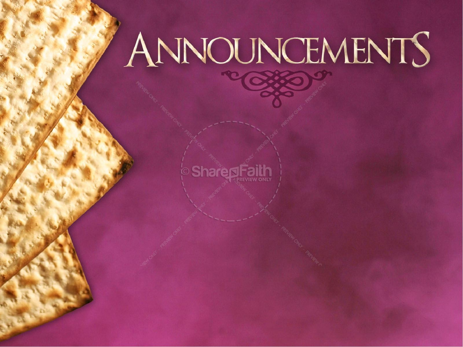 Passover Unleavened Bread PowerPoint