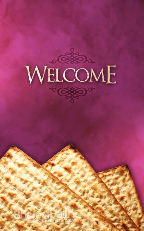 Passover Unleavened Bread Church Bulletin