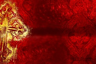 Valentines Day Gold Cross Worship Video Background