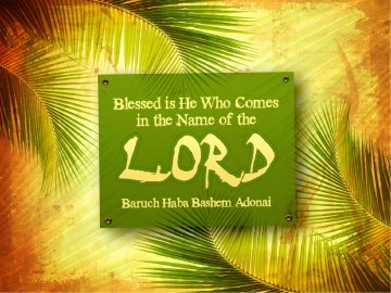 Palm Sunday Easter Passover PowerPoint