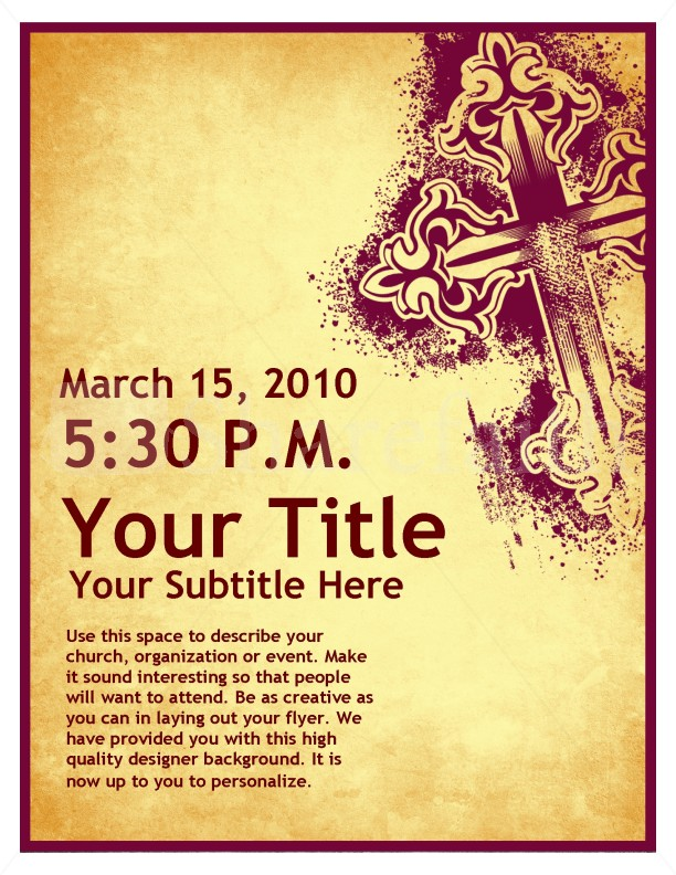 Palm Sunday Art Flyer Design