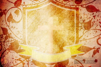 Shield with Cross Easter Worship Background Video