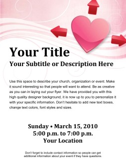 Valentines Day Expanding Love Church Flyer