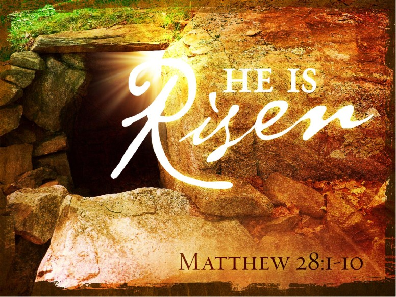 He Is Risen Church PowerPoint Template