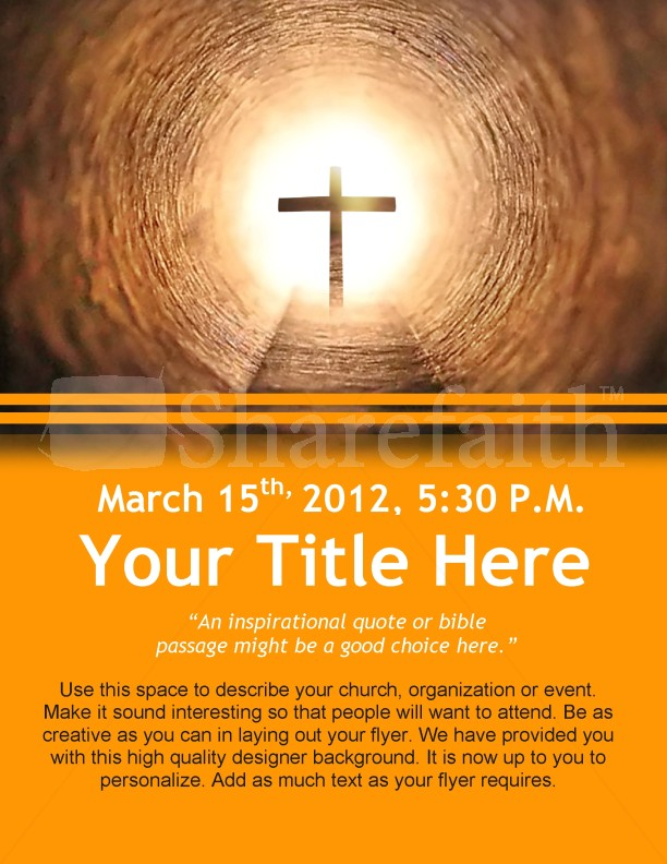 Easter flyer design template flyer templates for Religious flyers template free
