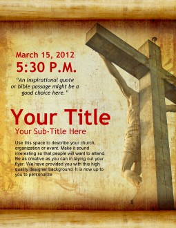 Good Friday Flyer Template
