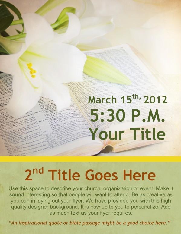 Easter Lily Resurrection Flyer Design