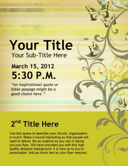 Womens Conference Flyer Design
